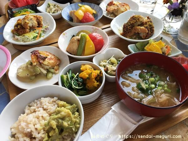仙台「cafe saji」のランチ
