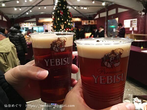 仙台クリスマスマーケット エビスバー