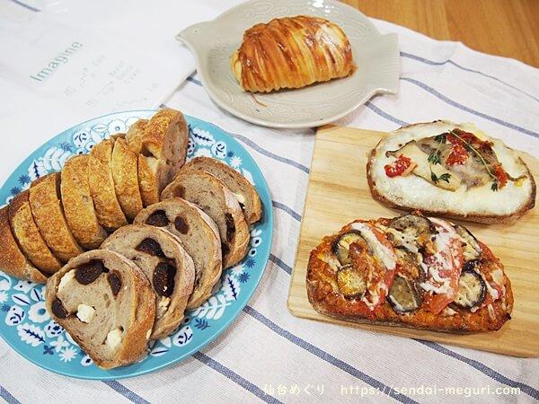 北仙台「イマジネ」のベーカリーとパン