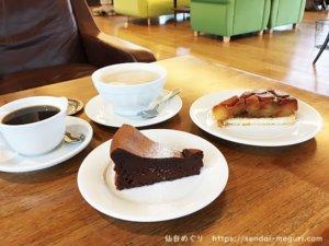 松島カフェ「ル・ロマン」のスイーツ。西行戻し松公園にある絶景スポットでのんびりティータイム