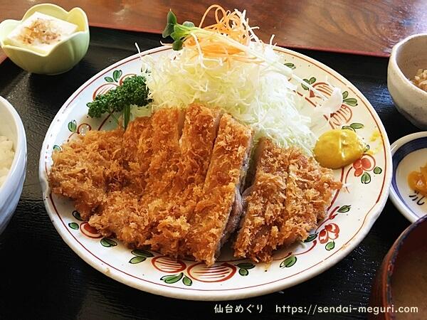 仙台川平「とんかつ櫻家」のランチ