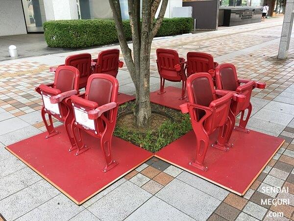 仙台 楽天球場の椅子