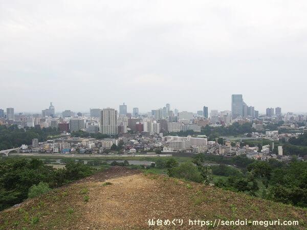 仙台城跡 仙台市街景色
